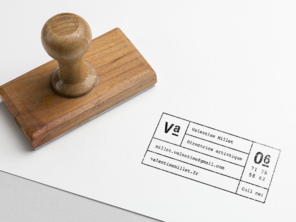 Tampon Professionnel Pour Carte De Visite