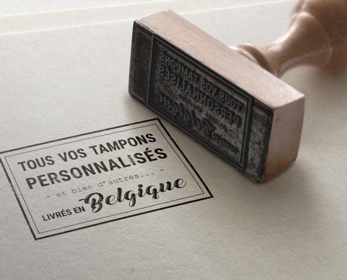 Livraison tampon personnalisé Belgique