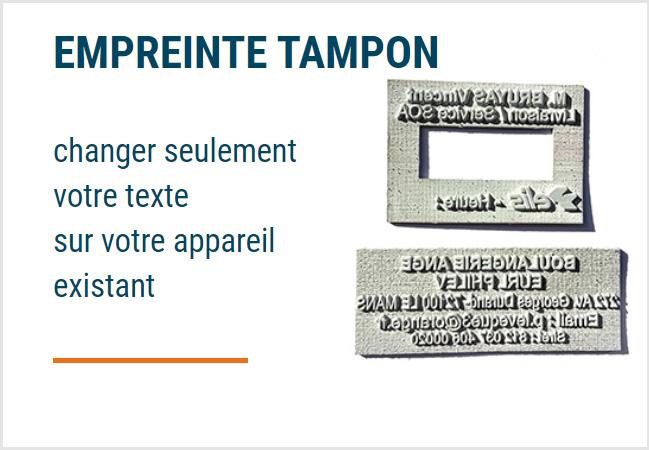 Empreinte personnalisée Tampon Paris - Chanzy Tampons Paris