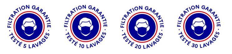 logo officiel de filtration masque grand public