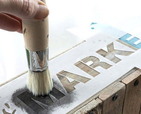Création Déco Pochoir alphabet lettres