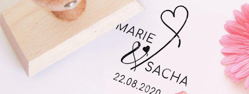 Nouveaux tampons personnalisés mariage