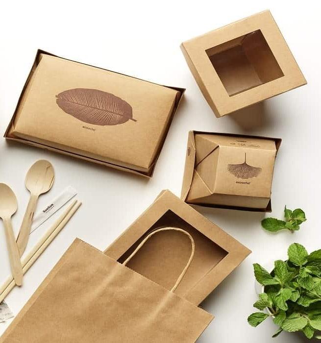 Packaging de vente à emporté personnalisé par des tampons encreurs