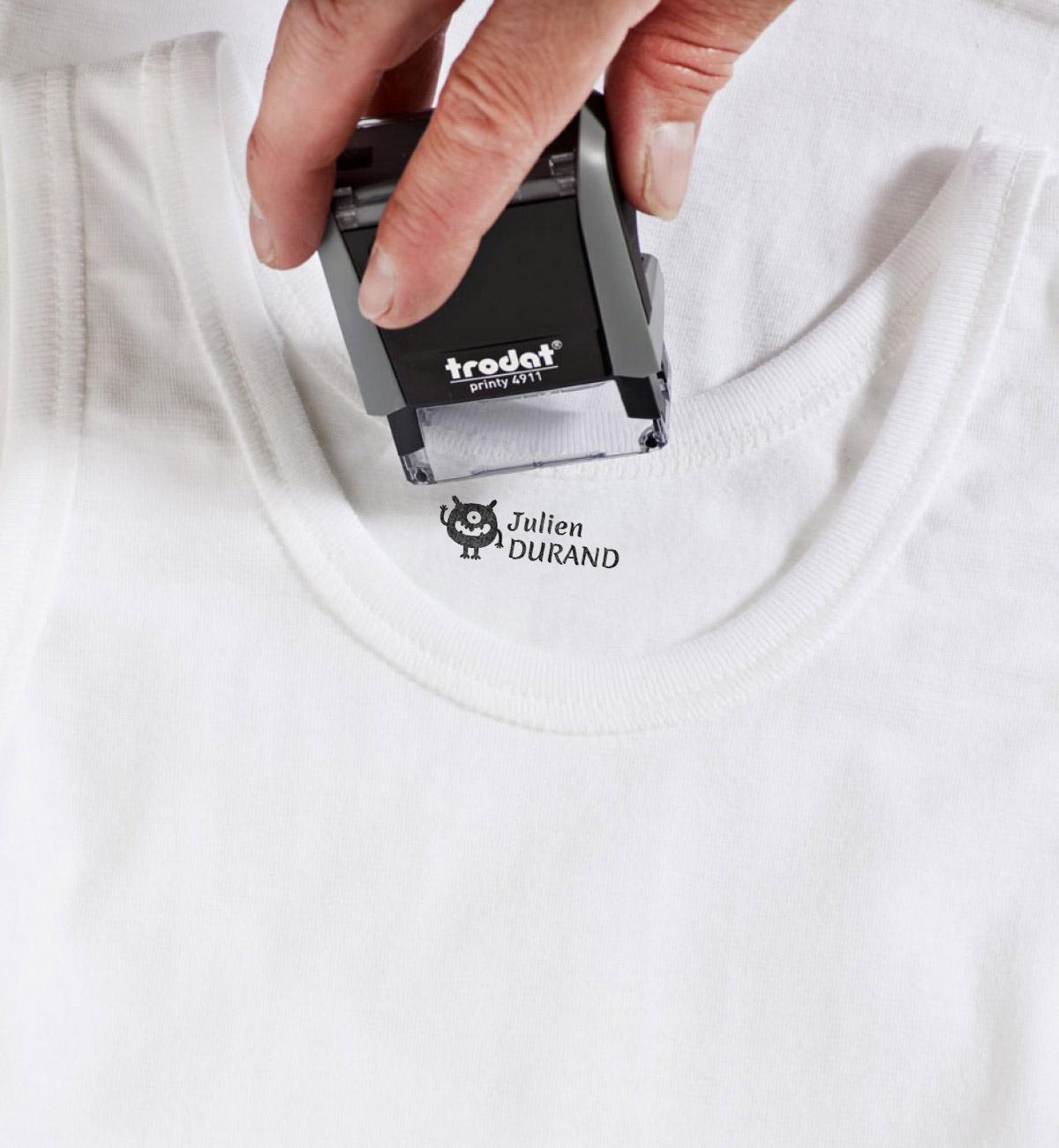 Tampon textile personnalisé pour marquer les vêtements