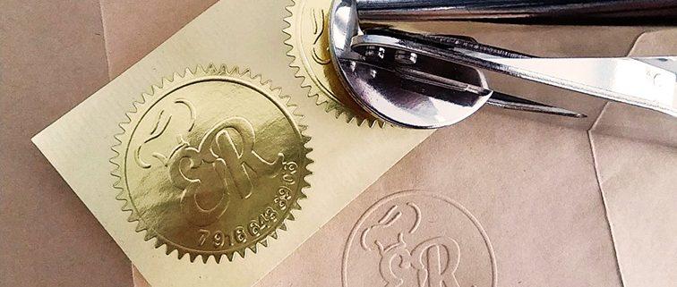 Gaufrage personnalisé, Timbre à sec, Pince à gaufrer - Chanzy Tampons